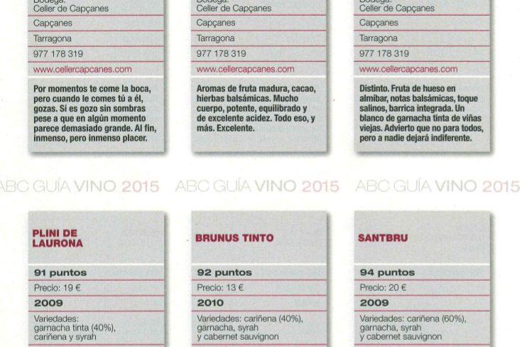 Grans valoracions per als Montsant a Guía Vino ABC
